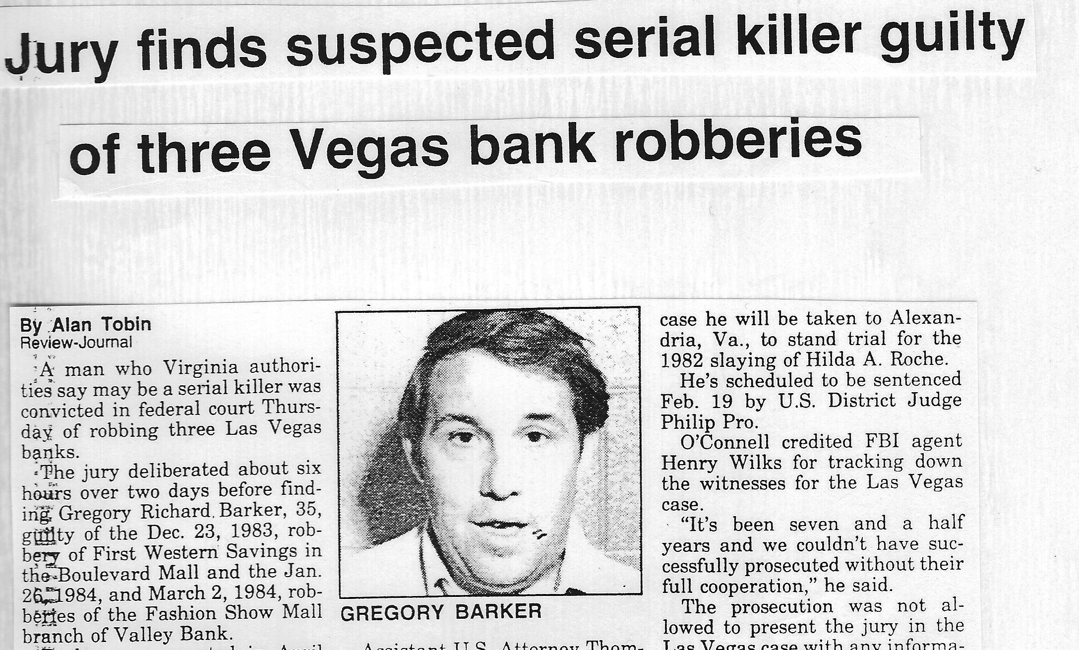 Gregory Richard Barker Headline